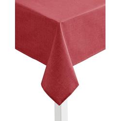 Tischdecke rot oval - 140 cm x 190 cm
