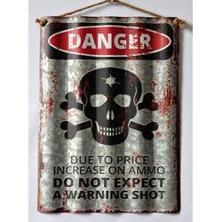 HTI-Line Metallschild Blechschild Danger, Blechschild