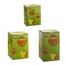 Bag in Box Saftkarton für Apfelsaft 3 / 5 / 10 Liter Füllmenge, Mengenauswahl: 5 Stk., Füllmenge: 10 Liter