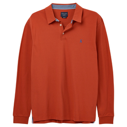 Tom Joule Langarm-Piqué-Polo Woodwell Soft Red (Größe: XXL)