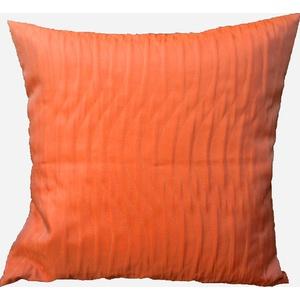 """novum fix Kissen, eine Kissenhülle, Füllkissen, Cocktailkissen, Sofakissen, Kopfkissen """"Wave"""", ca. 40 x 40 cm, orange"""