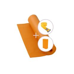 bodhi Yogamatte Yoga Set RISHIKESH Yogamatte mit Block & Gurt orange orange