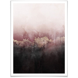 Wall-Art Poster Rosa Himmel, Himmel (1 Stück) 60 cm x 80 cm x 0,1 cm