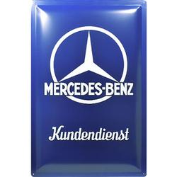 Retro Blechschild Mercedes-Benz Kundendienst Maße: 40x60cm