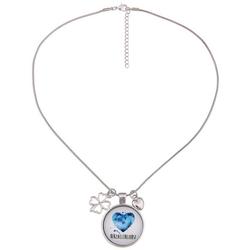leslii Halskette mit Trachten-Anhänger silberfarben