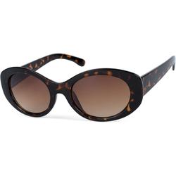 styleBREAKER Sonnenbrille Butterfly Sonnenbrille mit breitem Rahmen Getönt braun