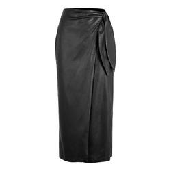 SoSUE Vegan Long Wrap skirt
