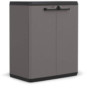 Keter Più Kunststoffschrank, hoch, anthrazit/schwarz, 68 x 39 x 83 cm