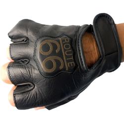 Running Bear Motorradhandschuhe Biker Handschuhe - Route 66 - Lederhandschuhe fingerlos Leder Gr. L - 3 XL 2XL