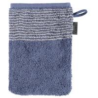 Waschhandschuh Two-Tone in nachtblau, 16 x 22 cm