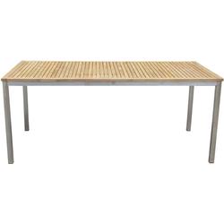 Teak Garten Tisch 180cm Holztisch Holz Edelstahl massiv Terrasse Veranda Balkon