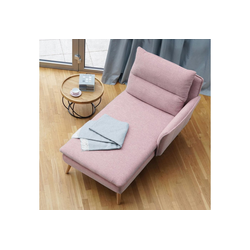 PLACE TO BE. Recamiere, Recamiere Ottomane Chaiselongue Sitzbank Polsterbank Tagesbett Daybed mit Armlehne rechts rosa