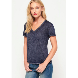 Superdry V-Shirt BURNOUT VEE TEE in Burnout-Optik blau 8 (36/XS)