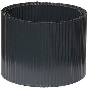 bellissa Rasenkante KLEINE Welle aus Metall - 99733 - Stahlblech feuerverzinkt, anthrazit - 5 m x 14 cm