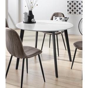 INOSIGN Esstisch Cody, mit Beinen aus massiver Kiefer, runde MDF-Tischplatte, in 2 verschiedenen Farbvarianten schwarz
