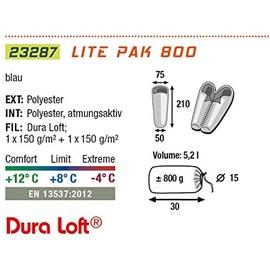High Peak Lite Pak 800 hellblau