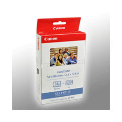 Canon Papier KP-36IP  7739A001  5,4x8,6cm  36 Blatt incl. Color Cartridge