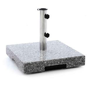 Sonnenschirmständer 40 kg Granit eckig grau mit Griff, Räder und Trolleyfunktion