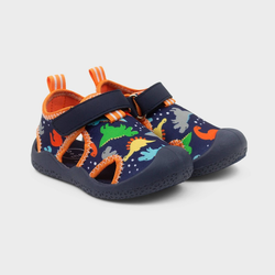 Baby Boys' Ro+Me by Robeez Rubber Dino Shoes 12-18M, Blue