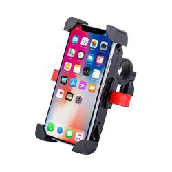 """cofi1453 Universal Fahrrad Handyhalterung Handyhalter Smartphone Fahrradhalterung für Smartphones Handys bis 4,6-6,5"""" Schwarz Smartphone-Halterung"""