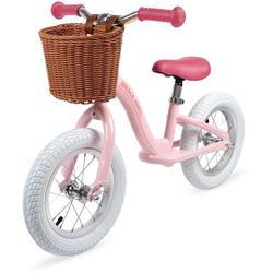 Janod Laufrad Vintage-Bikloon, rosa, mit Korb