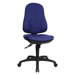Lüllmann Drehstuhl Bürodrehstuhl Bandscheiben Schreibtischstuhl Drehstuhl Bürostuhl Max. Nutzgewicht: 110 kg, max. Nutzgröße: 1,92 m - Spezial-Bandscheibensitz für komfortables Sitzen blau