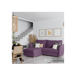 PLACE TO BE. Schlafsofa, Schlafsofa Insideout 85 mit Recamiere links lila