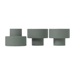 BLOMUS Kerzenhalter TRIO Set 3 Kerzen- und Teelichthalter agave green