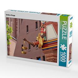 Goldene Waage Lege-Größe 64 x 48 cm Foto-Puzzle Bild von Petrus Bodenstaff Puzzle