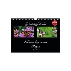 Geburtstagskalender Schmetterlinge unserer Region (Wandkalender 2021 DIN A4 quer)