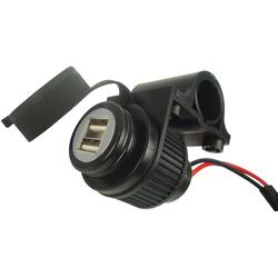Booster 12V Doppel-USB-Ladebuchse, schwarz