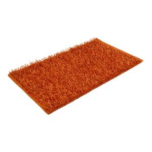 """Gözze """"SHAGGY"""" Langflor Teppich in Metallic-Optik, 50 x 70 cm, Vorleger aus einem Polyester und Baumwollmix, Farbe: orange"""