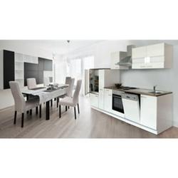 Respekta Küchenzeile KB310WW 310 cm Weiß