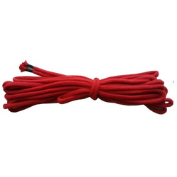 Bondage Seil Baumwolle 8mm rot- 30 Meter