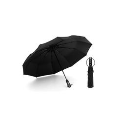 kueatily Sonnenschirm RegenschirmWindproof sturmfest bis 150 km/h - Auf-Zu Automatik 210T Nylon Umbrella wasserabweisend klein leicht kompakt 10 Ribs Reise Golfschirm mit Trockenbeutel