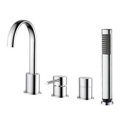 SINAR Einhebelmischarmatur + Duschbrause für Badewannen
