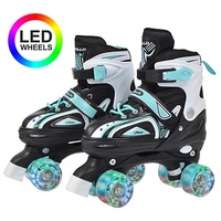 Apollo Rollschuhe Super Quads X-Pro, LED Wheels grün L (39-42)