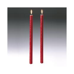 Amabiente Kerzenhalter Kerze CLASSIC feuerrot 40cm - 2er Set