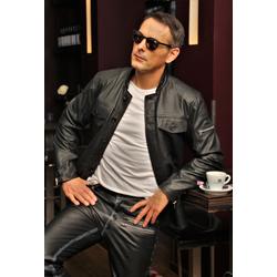 Lederhemd Lederjacke aus ECHT Leder in schwarz