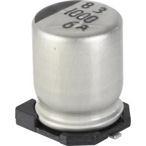SUNC 6CE1500KX - SMD-Elko,  1,5 mF, 6,3 V, 105 °C, 2000 h