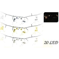 Perlenlichterkette - 20 LED Lichterkette mit Perlen - batteriebetrieben - 130 cm