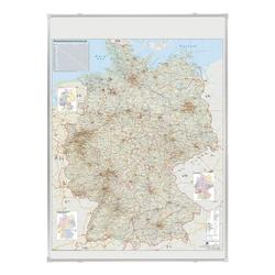 Deutschlandkarte »KA301P« grau, Franken