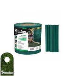 Zaunband 19cmx35m grün Zaun- Palisadenband Sichtschutz Lärmschutz BRADAS 0261