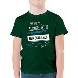 Shirtracer T-Shirt Bye Bye Kindergarten Einschulung Schulhof - Einschulung und Schulanfang - Jungen Kinder T-Shirt - T-Shirts servietten einschulung 152 (12/13 Jahre)