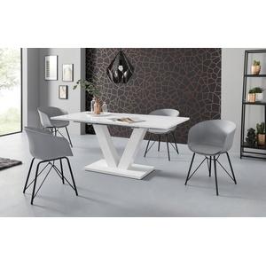 INOSIGN Esstisch Andy, mit Auszugsfunktion, 2 Breiten (140-180 cm oder 180-220 cm), weiß Hochglanz weiß 140 cm x 76 cm x 90 cm