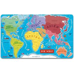 Janod Puzzle Die Welt, 92 Puzzleteile