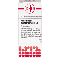 HISTAMINUM hydrochloricum D 6 Globuli 10 g
