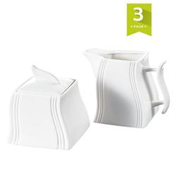 MALACASA Milch- und Zuckerset FLORA (3-tlg), Porzellan, Milch- und Zuckerset aus Porzellan