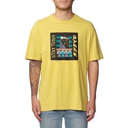 Tshirt GLOBE - Totem Tee Washed Sulphur (WSULPH) Größe: L