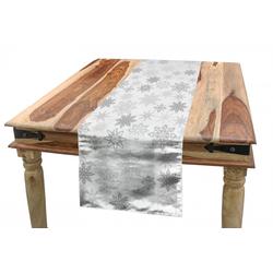 Abakuhaus Tischläufer Esszimmer Küche Rechteckiger Dekorativer Tischläufer, Winter Aufwändige Eiskristalle 40 cm x 300 cm